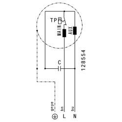 ATC ARU 190 E4 01 Yatay Atışlı Çatı Fanı 300 m3/h - Thumbnail