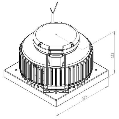 ATC ARU 220 E2 01 Yatay Atışlı Çatı Fanı 900 m3/h