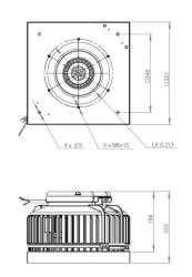 ATC ARU 220 E2 01 Yatay Atışlı Çatı Fanı 900 m3/h - Thumbnail