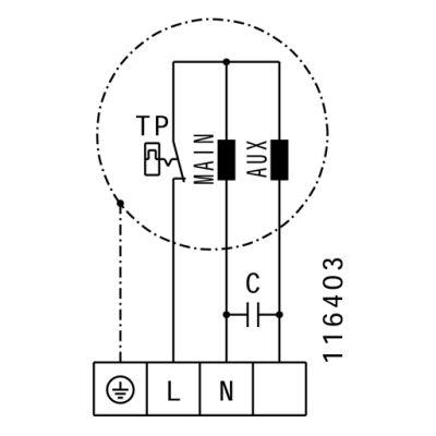 ATC ETALINE 315 E2 01 Yuvarlak Kanal Fanı 3510 m3/h