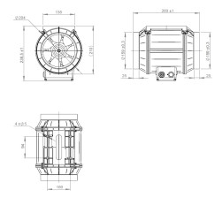 ATC ETAMASTER 160L E2M 01 Plastik Karma Akışlı Kanal Fanı 614 m3/h - Thumbnail