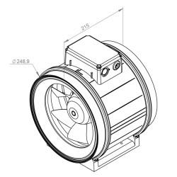 ATC ETAMASTER 250 E2M 01 Plastik Karma Akışlı Kanal Fanı 1624 m3/h - Thumbnail