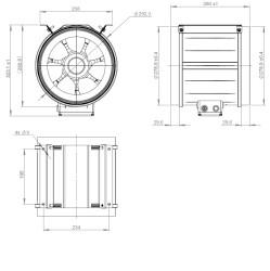 ATC ETAMASTER 280 E2M 01 Plastik Karma Akışlı Kanal Fanı 2174 m3/h - Thumbnail