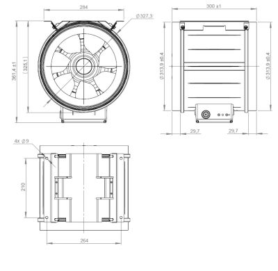 ATC ETAMASTER 315 E2M 01 Plastik Karma Akışlı Kanal Fanı 3179 m3/h