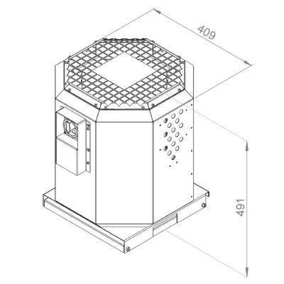 ATC KRF-S 250 E2 20 Dikey Atışlı Çatı Fanı