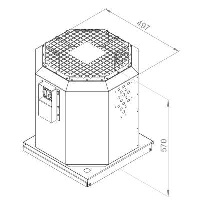 ATC KRF-S 280 E2 20 Dikey Atışlı Çatı Fanı