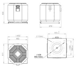 ATC KRF-S 400 E4 21 Dikey Atışlı Çatı Fanı - Thumbnail