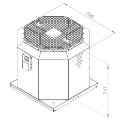 ATC KRF-S 450 E4 20 Dikey Atışlı Çatı Fanı - Thumbnail