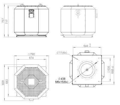 ATC KRF-S 450 E4 20 Dikey Atışlı Çatı Fanı
