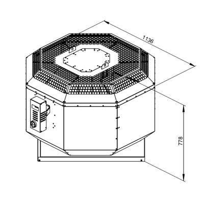 ATC KRF-S 560 D4 21 Dikey Atışlı Çatı Fanı