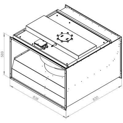 ATC RFA 8050 RD4 30 Dikdörtgen Kanal Fanı