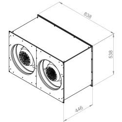 ATC RFAI-EL 8050 E2 10 Dikdörtgen Kanal Fanı - Thumbnail